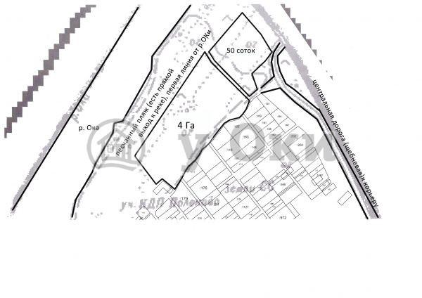Продается участок площадью 4 Га в п.Ланьшино (50м от р.ОКА) электричество в 50 м, газ в 100м от участка, есть разрешение под строительство, для организации отдыха, туризма, физкультурно-оздоровительной деятельности Симферопольское шоссе 100км от МКАД
